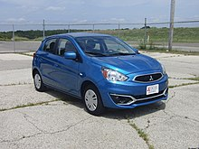 post facelift 2017 mitsubishi mirage es north america