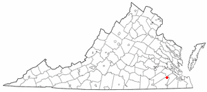 Ivor, Virginia - Image: VA Map doton Ivor