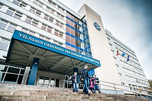 Vilnius Gediminas Technical University - The main administration building of VGTU in the Saulėtekis neighborhood of Vilnius.