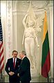 Valdas Adamkus and George W. Bush in Vilnius, Lithuania (2002).jpg