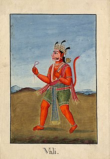 Vali, the Monkey King killed by Rāma..jpg