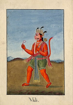 Vali (Ramayana) - Vali, the Monkey King killed by Rama