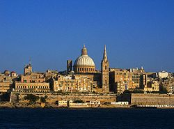 The Valletta skyline