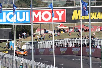 2016 Liqui Moly Bathurst 12 Hour - Shane van Gisbergen crosses the finish line to take victory.