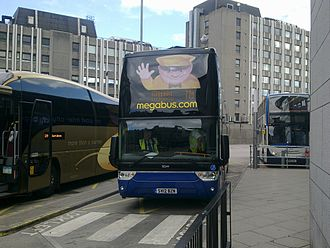 Megabus (Europe) - Van Hool TDX27 Astromega at Union Square Aberdeen bus station