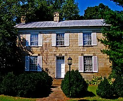 The Vanmeter Stone House, a historic site in the township