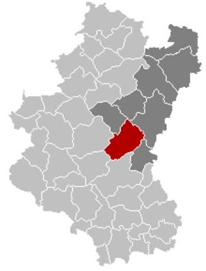 Vaux-sur-Sûre - Image: Vaux sur Sûre Luxembourg Belgium Map