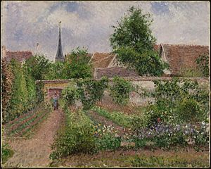 Vegetable Garden, Overcast Morning, Eragny