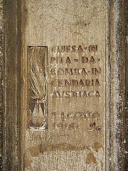 Venedig Bombardierungstafel Tür2