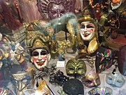 Venezia-typical masks worn during the Carnival of Venice