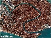 Η Βενετία από δορυφόρο.