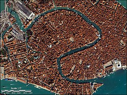 The Grand Canal viewed from space in 2001.