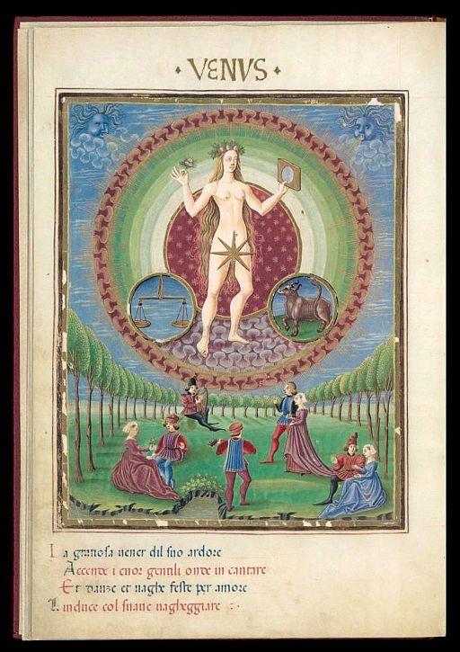Venus - De Sphaera - Biblioteca Estense lat209 - f9v