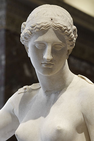 Venus of Arles - Restored surface on the Praxitelean figure by François Girardon