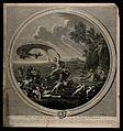 Venus riding a scallop shell chariot over the seas accompani Wellcome V0017038.jpg