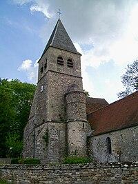 Versigny (60), tour de l'église de Droizelles.jpg