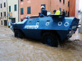 Vicenza flooding Nov. 1, 2010 - police vehicle (1).jpg