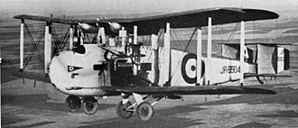Cargo aircraft - The Vickers Vernon was the first dedicated troop transport in 1921