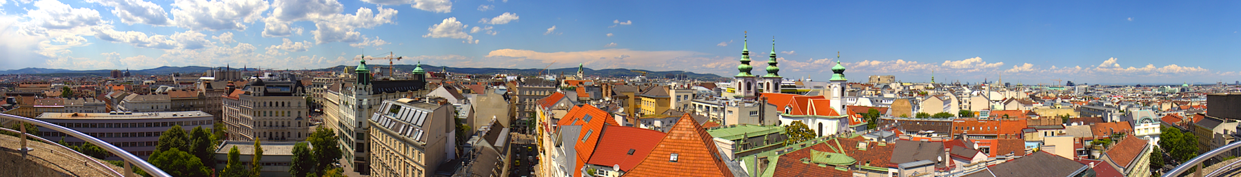 Looking over the rooftops of Vienna from the Haus des Meeres