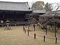 View of East Sangharama of Horyuji Temple from Yumedono 2.JPG
