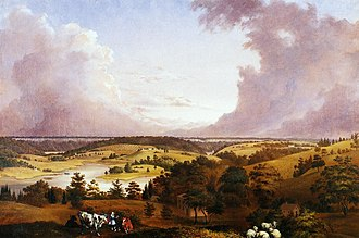 Hastings-on-Hudson, New York - View of Hastings-on-Hudson, oil on canvas, John Ludlow Martin, 1856