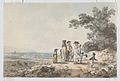 View of London with St. Paul's in the Distance- A Family Pausing on a Road MET DP866775-1.jpg