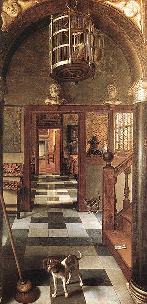 Samuel Dirksz van Hoogstraten - View of a Corridor, Dyrham Park, 1662