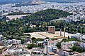 View of the Arch of Hadrian, the Temple of Zeus and the Panathenaic Stadium from the Acropolis on July 2, 2019.jpg
