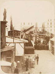 View of the external area of the workshop in Paris, showing....jpg