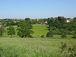 View towards Eastry from footpath