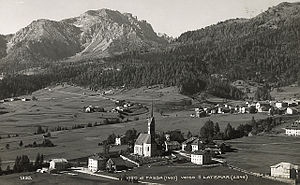 Vigo di Fassa - Vigo di Fassa towards Latemar in a photograph of the beginning of XX century