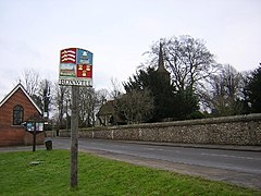 Village sign and church, Roxwell - geograph.org.uk - 105090.jpg