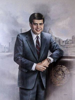 Buddy Cianci - Official portrait in Providence City Hall