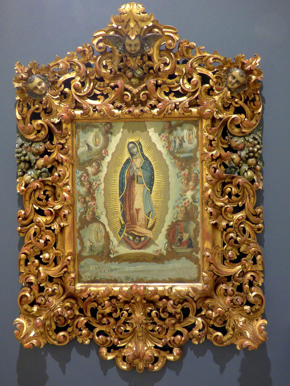 Virgen De Guadalupe Con Las Cuatro Apariciones Juan De
