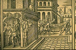 Virgil Solis - Woodcut from Ovid's Metamorphoses (XIV, 698-764), Frankfurt 1581