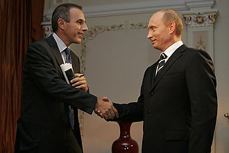 Matt Lauer - Image: Vladimir Putin with Matt Lauder