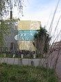 Vlinderkunstwerk op de zijkant van studentenwoningen - Eemkwartier, Amersfoort - 2016.JPG