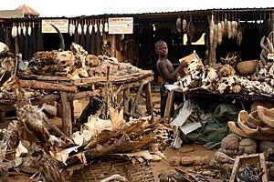Fetishism - A voodoo fetish market in Lomé, Togo, 2008