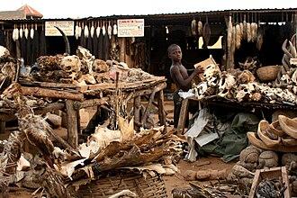 West African Vodun - A vodoun market in Lomé, Togo, 2008.