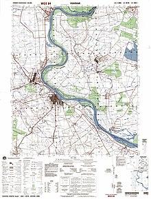 Mapo de Vukovar kaj la ĉirkaŭa regiono