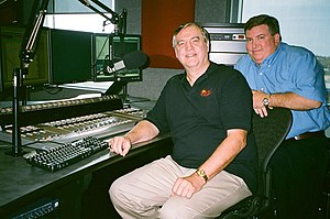 WBVM - Station manager John Morris (right) with Jim Howes, Sacred Classics producer
