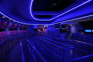 Space Mountain (Magic Kingdom) - The queuing area for the Alpha track after the 2009 refurbishment