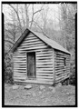 WEST FRONT - Alfred Raegan Tub Mill, Roaring Fork Trail, Gatlinburg, Sevier County, TN HABS TENN,78-GAT.V,4-1.tif
