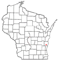 Location of Adell, Wisconsin