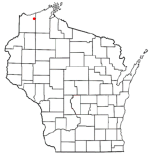 Brule, Wisconsin - Image: WI Map doton Brule