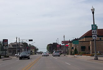 Two Rivers, Wisconsin - Intersection of WIS 42 and WIS 147