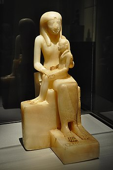 WLA brooklynmuseum Statuette of Queen Ankhnesmeryre II and her Son 3.jpg