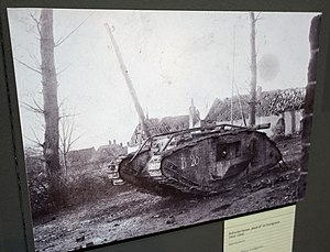 Action of the Cockcroft, 19 August 1917 - Image: WWI British Mark IV tank (26574762791)