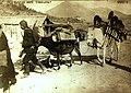 WWI Turkish Army transport by donkeys in Egypt 1915 (22228600010).jpg