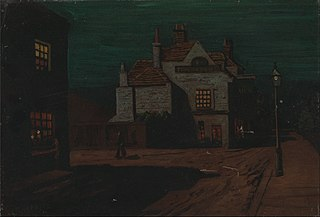 The Black Lion, Chelsea by Night
